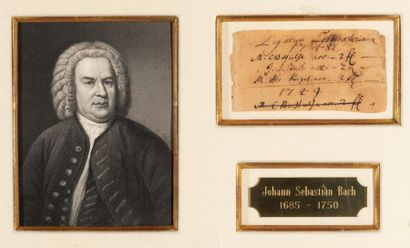 BACH Johann Sebastian (1685-1750). P.S. «J.S....