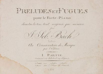 BACH Johann Sebastian (1685-1750). Preludes et Fugues pour le Forte-Piano dans tous...