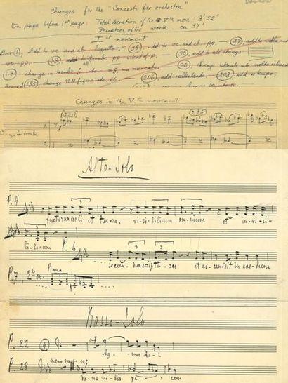 BARTÓK Béla (1881-1945) et autres. Ensemble...