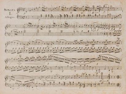 BEETHOVEN Ludwig van (1770-1827). Trois Sonates pour le Piano-Forte Composées &...