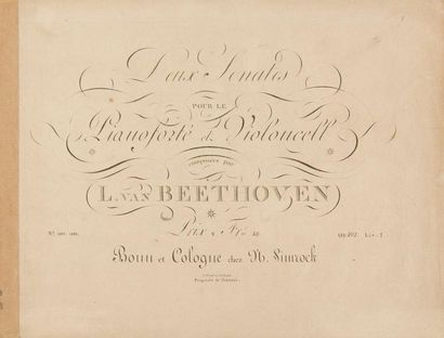 BEETHOVEN Ludwig van (1770-1827). Cinq éditions anciennes de Sonates pour piano....