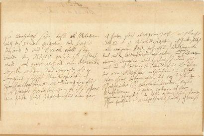 BEETHOVEN Ludwig van (1770-1827). L.A.S. «Ludwig van Beethowen», [Vienne] 11 juin...