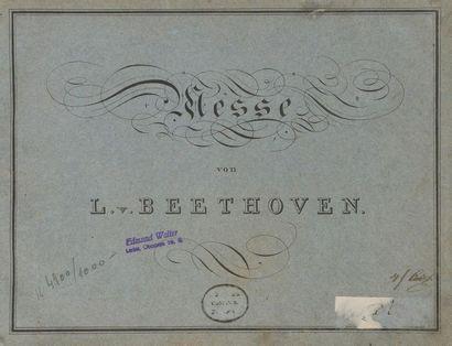 BEETHOVEN Ludwig van (1770-1827). Messa a quattro Voci coll' accompagnamento dell'...