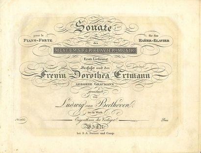 BEETHOVEN Ludwig van (1770-1827). Sonate...