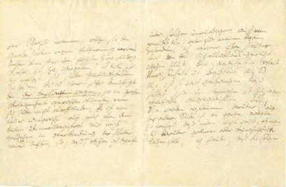 BEETHOVEN Ludwig van (1770-1827). L.A. (la fin manque), Mödling 15 octobre 1819,...