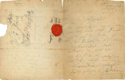BEETHOVEN Ludwig van (1770-1827). L.A.S. «Beethov[en]» avec MUSIQUE, Wien 26 février...