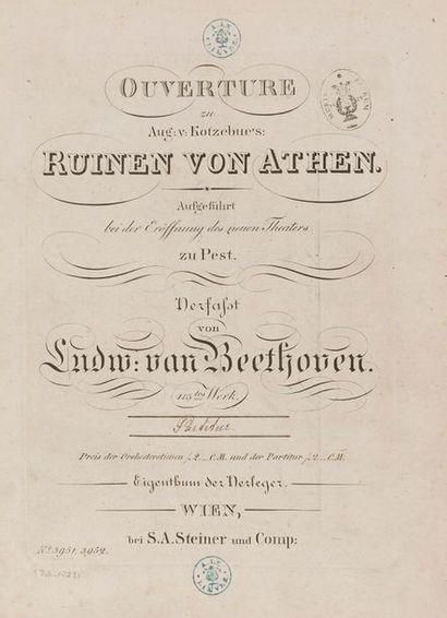 BEETHOVEN Ludwig van (1770-1827). [Ouverturen]....