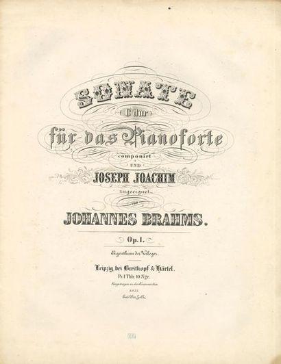 BRAHMS Johannes (1833-1897). Sonate… für...