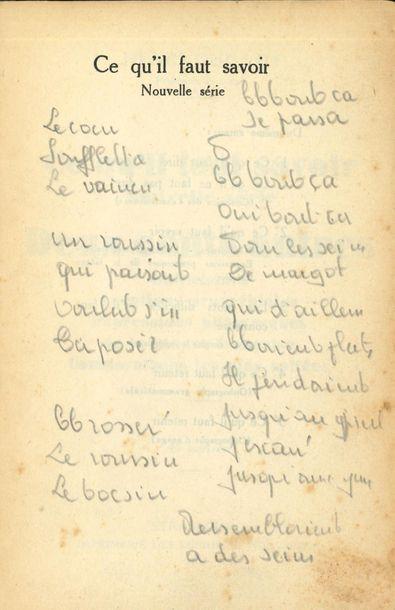 BRASSENS Georges (1921-1981). MANUSCRIT autographe...