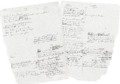 BREL Jacques (1929-1978). MANUSCRIT autographe, Ces gens-là, [1965]; 4pages petit...
