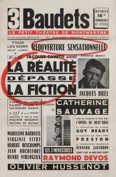 [BREL Jacques (1929-1978)]. AFFICHE du spectacle...