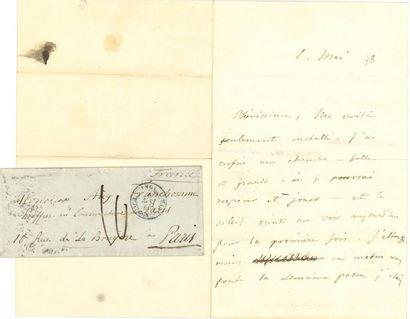 CHOPIN Frédéric (1810-1849). L.A.S. «Ch», [Londres] 1er mai 1848, à Auguste FRANCHOMME,...