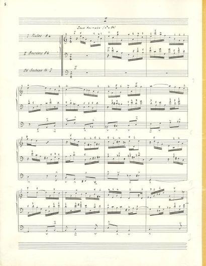DUPRÉ Marcel (1886-1971). MANUSCRIT MUSICAL...