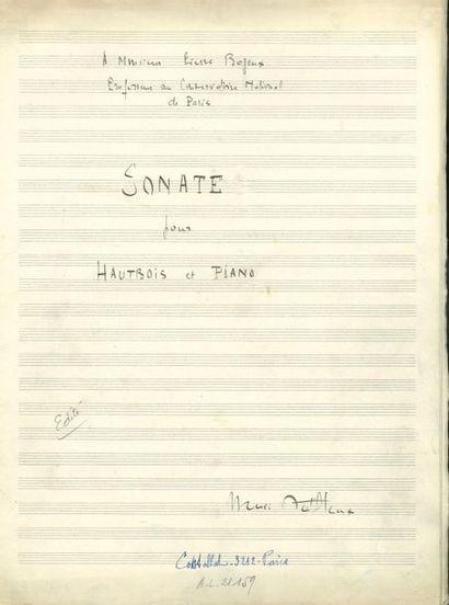DUTILLEUX Henri (1916-2013). MANUSCRIT MUSICAL...