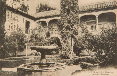 FALLA Manuel de (1876-1946). L.A.S. «Manuel de Falla» sur carte postale, Granada...