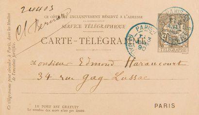 FAURÉ Gabriel (1845-1924). 2 L.A.S. «Gabriel Fauré», 1889-1890, à Edmond HARAUCOURT;...