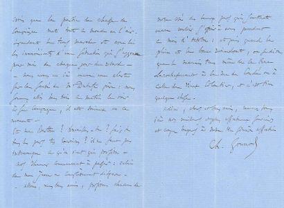 GOUNOD Charles (1818-1893). L.A.S. «Ch. Gounod», [vers 1865], à sa «chère Marie»;...