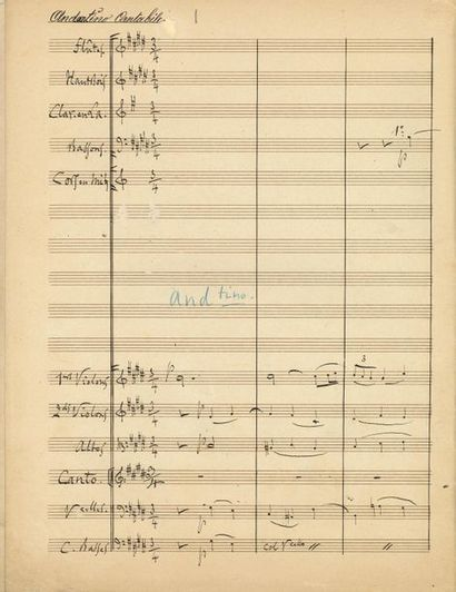 GOUNOD Charles (1818-1893). MANUSCRIT MUSICAL autographe signé «Charles Gounod»,...