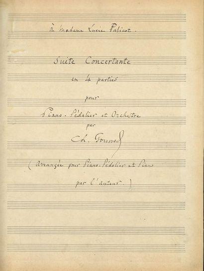 GOUNOD Charles (1818-1893). MANUSCRIT MUSICAL autographe signé «Ch. Gounod», Suite...