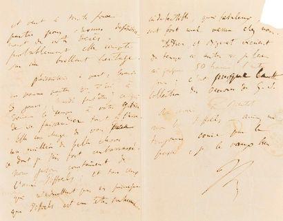 LISZT Franz (1811-1886). L.A.S. «FL», [Paris...