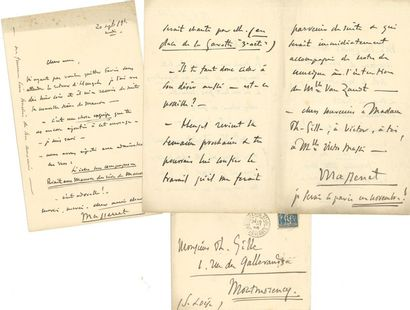 MASSENET Jules (1842-1912). 5 L.A.S. «Massenet»...