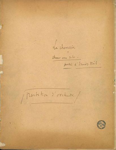 MASSENET Jules (1842-1912). MANUSCRIT MUSICAL...