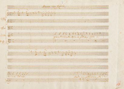 MOZART Wolfgang Amadeus (1756-1791). MANUSCRIT...