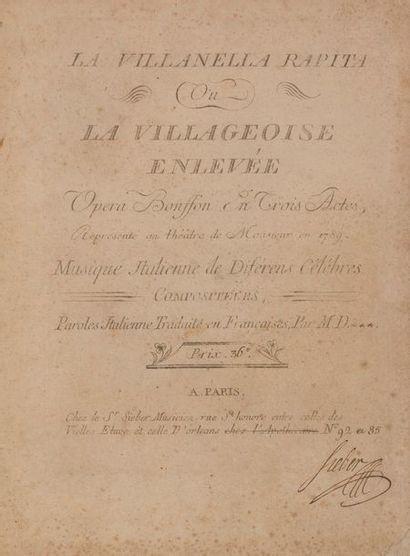 MOZART Wolfgang Amadeus (1756-1791). La Villanella...
