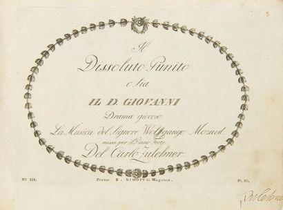 MOZART Wolfgang Amadeus (1756-1791). Il Dissoluto...