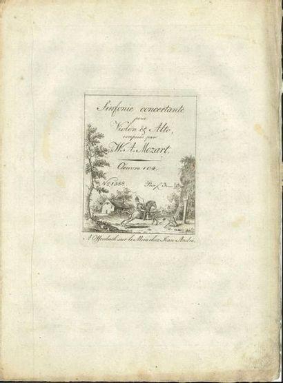 MOZART Wolfgang Amadeus (1756-1791). Sinfonie...