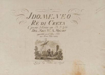 MOZART Wolfgang Amadeus (1756-1791). Idomeneo...