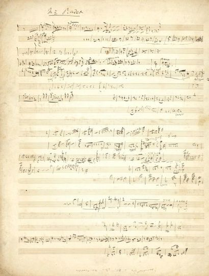 OFFENBACH Jacques (1819-1880). MANUSCRIT...