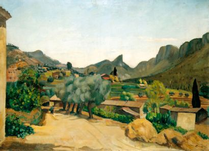 CERIA Edmond (1884-1955) Paysage de Provence n° 2 Huile sur toile. Signée en bas...