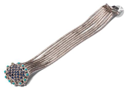 Bracelet en or gris 18K (750) composé de...