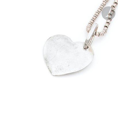 POMELLATO ET DODO Cœur pendentif en argent...