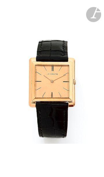LECOULTRE. Vers 1960 Montre bracelet pour...