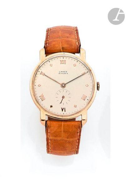 LANCO. Vers 1960 N°571 Montre bracelet pour...