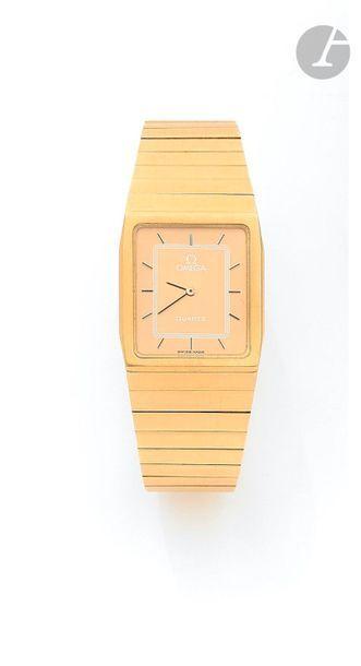 OMEGA. Vers 1990 Montre bracelet pour homme...
