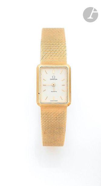 OMEGA. Vers 1990 Montre bracelet pour femme...