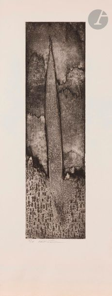 Roberto Altmann (Cuban, born 1942 ) Compositions Etchings . 2 proofs on white vellum,...