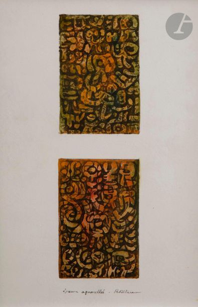 Roberto Altmann (Cuban, born 1942 )Lettrist compositions , ca. 1960Eau-forte. Two...