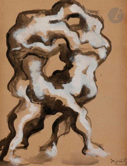 Jacques LIPCHITZ (1891-1973) Étude pour Hercules...