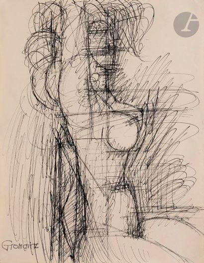 Marcel GROMAIRE (1892-1971) Nu le bras levé...