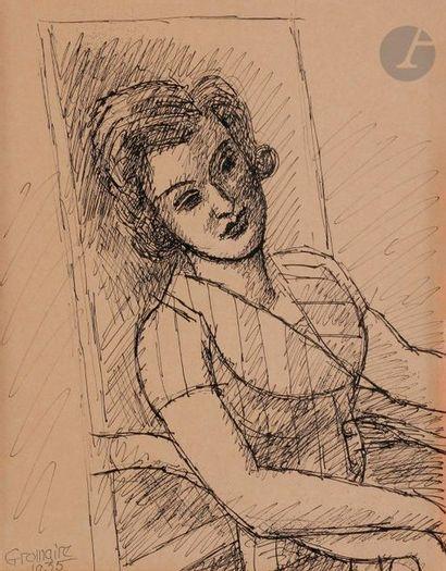 Marcel GROMAIRE (1892-1971) Portrait de Bonny-Pellieux,...