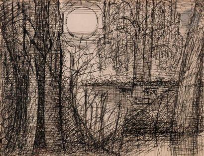 Marcel GROMAIRE (1892-1971) Paysage à la...