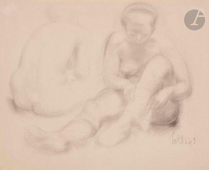Antoniucci VOLTI (1915-1989) Deux nus, 1949...