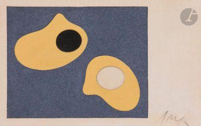 Jean ARP (1886-1966) Deux têtes, 1959 Collage....