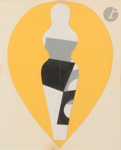 Jean ARP (1886-1966) Blason poupée n° 4,...