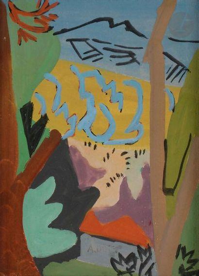 André LHOTE (1885-1962) Paysage, vers 1945-1950...