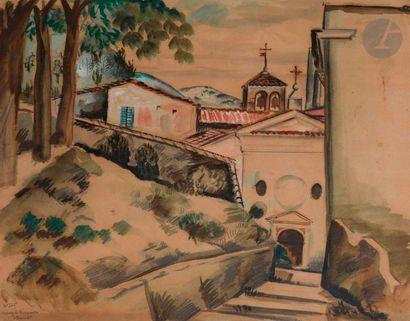 Henry de WAROQUIER (1881-1970) Brescia, Chapelle...